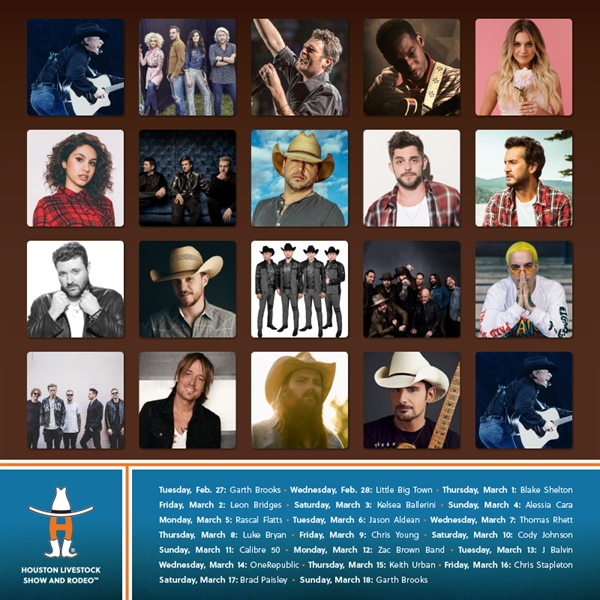 Houston Livestock Show And Rodeo 2020.Houston Livestock Show And Rodeo Lineup 2020 Show 2020