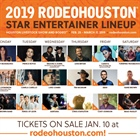 Houston Livestock Show and Rodeo™ Announces 2019 RODEOHOUSTON® Entertainment Lineup