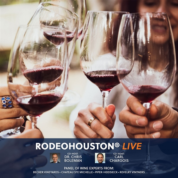 RODEOHOUSTON Live! with a panel of wine experts